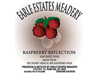 Earl Estates Meadery Rasberry Reflection